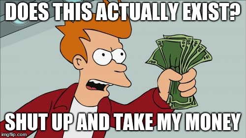 Shut Up And Take My Money Fry Meme | DOES THIS ACTUALLY EXIST? SHUT UP AND TAKE MY MONEY | image tagged in memes,shut up and take my money fry | made w/ Imgflip meme maker