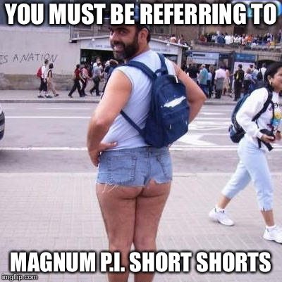 Short Shorts | YOU MUST BE REFERRING TO MAGNUM P.I. SHORT SHORTS | image tagged in short shorts | made w/ Imgflip meme maker