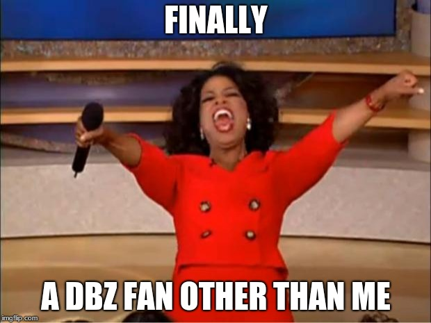 Oprah You Get A Meme | FINALLY A DBZ FAN OTHER THAN ME | image tagged in memes,oprah you get a | made w/ Imgflip meme maker