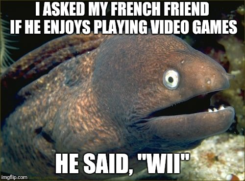 "French Video Game Enthusiast | I ASKED MY FRENCH FRIEND IF HE ENJOYS PLAYING VIDEO GAMES HE SAID, ""WII"" 