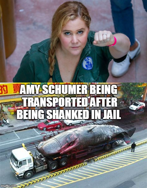 Amy Schumer arrested at Kavanaugh protest  | AMY SCHUMER BEING TRANSPORTED AFTER BEING SHANKED IN JAIL | image tagged in amy schumer,arrested,kavanaugh,protest,fat woman,memes | made w/ Imgflip meme maker