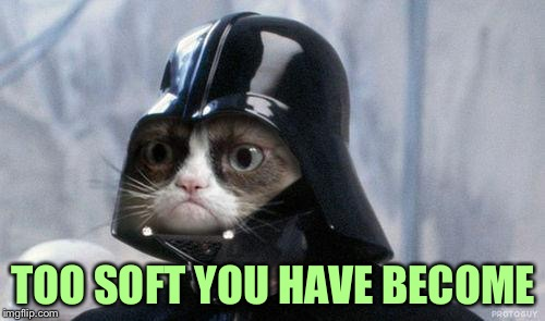 Grumpy Cat Star Wars Meme | TOO SOFT YOU HAVE BECOME | image tagged in memes,grumpy cat star wars,grumpy cat | made w/ Imgflip meme maker