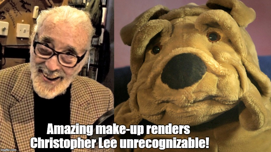 Sir Christopher Lee | Amazing make-up renders Christopher Lee unrecognizable! | image tagged in christopher lee,dracula,angels in notting hill,mr president,make-up | made w/ Imgflip meme maker