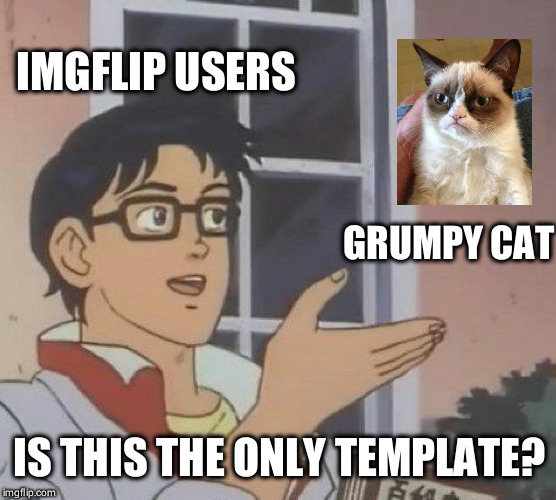 Hahahah,but seriously,who doesn't like grumpy cat?? | IMGFLIP USERS GRUMPY CAT IS THIS THE ONLY TEMPLATE? | image tagged in memes,is this a pigeon,funny,grumpy cat,imgflip users | made w/ Imgflip meme maker