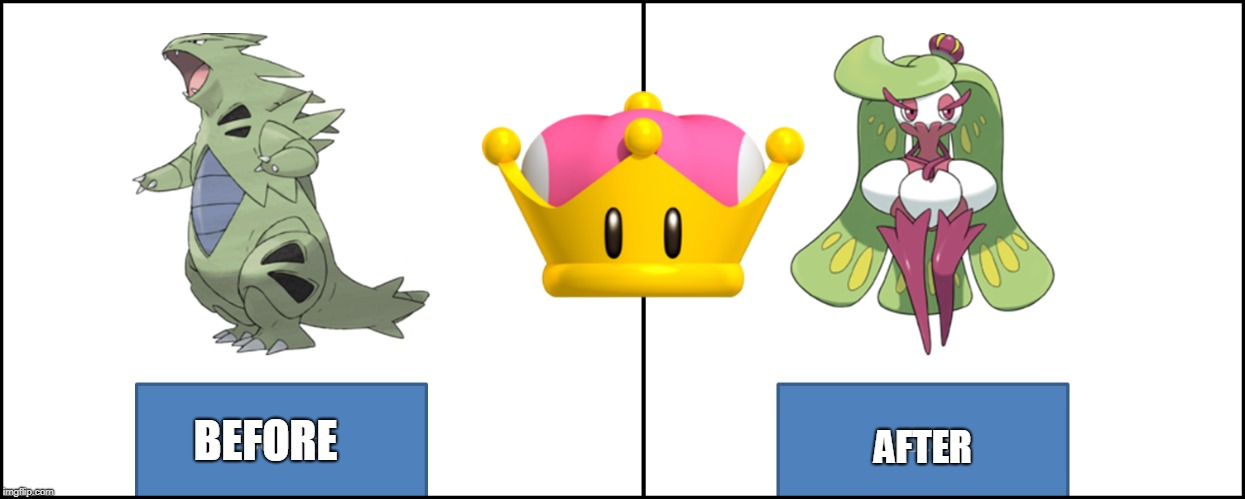 Super crown Pokemon | BEFORE AFTER | image tagged in before and after,pokemon,super crown | made w/ Imgflip meme maker