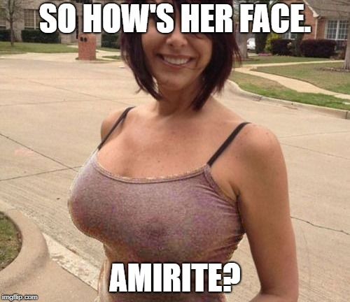 I need a name here. | SO HOW'S HER FACE. AMIRITE? | image tagged in hot girls,boobs,nipples,name,memes | made w/ Imgflip meme maker
