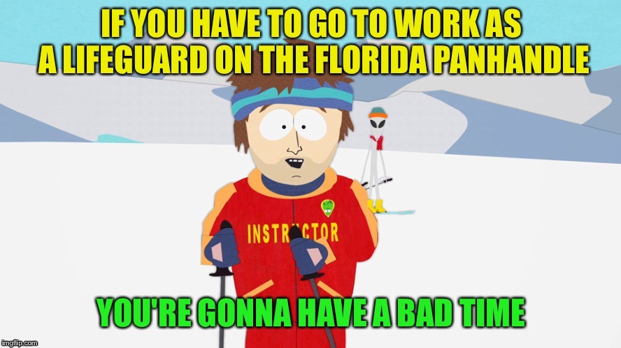 Hopefully this will be the last one this year. |  . | image tagged in hurricane,lifeguard,memes,funny | made w/ Imgflip meme maker