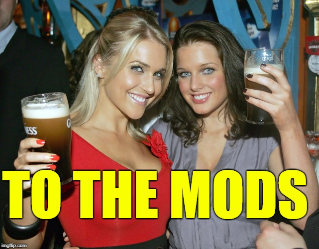 Cheers craziness 2 | TO THE MODS | image tagged in cheers craziness 2 | made w/ Imgflip meme maker