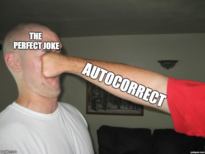 Face punch | THE PERFECT JOKE AUTOCORRECT | image tagged in face punch | made w/ Imgflip meme maker