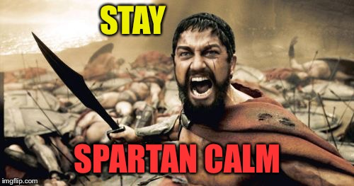 STAY SPARTAN CALM | made w/ Imgflip meme maker