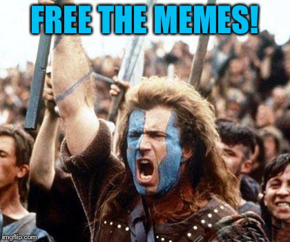 Set the homepage to view all memes! | FREE THE MEMES! | image tagged in braveheart freedom,imgflip,funny,politics,repost,free the memes | made w/ Imgflip meme maker