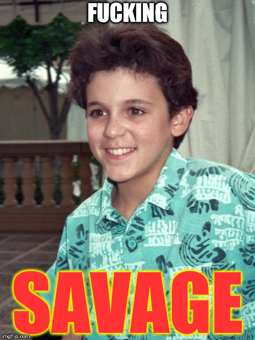 F**KING SAVAGE | image tagged in fred savage | made w/ Imgflip meme maker