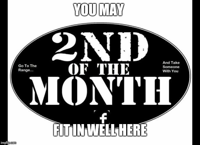 2nd of the Month | YOU MAY FIT IN WELL HERE | image tagged in 2nd of the month | made w/ Imgflip meme maker