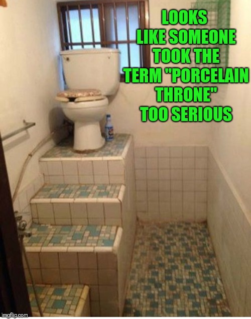 "Sitting High On The Throne | LOOKS LIKE SOMEONE TOOK THE TERM ""PORCELAIN THRONE"" TOO SERIOUS 