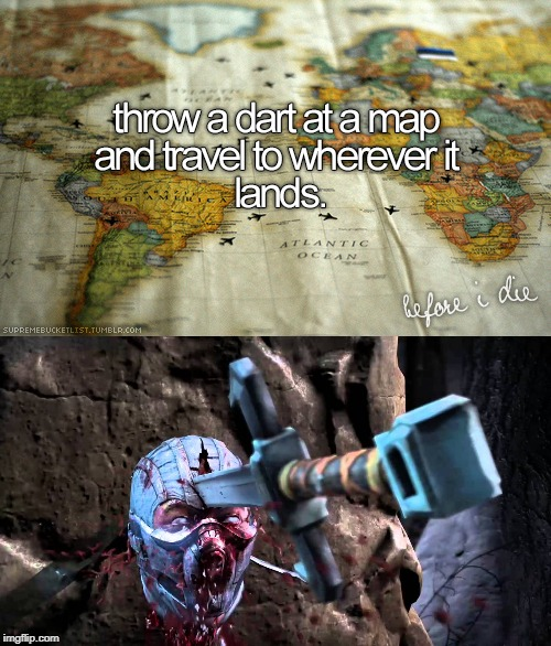 Next Stop: Iraq | image tagged in blood,fatality | made w/ Imgflip meme maker