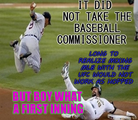 image tagged in major league baseball,ufc,funny | made w/ Imgflip meme maker