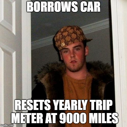 If you borrow someones car, use the trip meter with the least mileage.