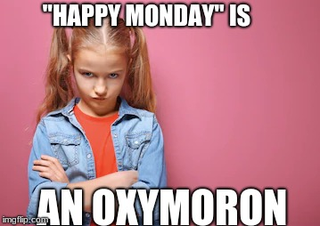 "Grumpy Girl | ""HAPPY MONDAY"" IS AN OXYMORON 