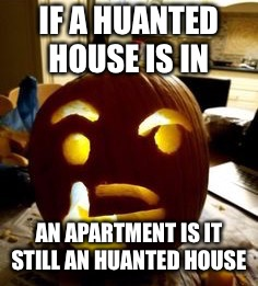 What if | IF A HUANTED HOUSE IS IN AN APARTMENT IS IT STILL AN HUANTED HOUSE | image tagged in funny memes | made w/ Imgflip meme maker
