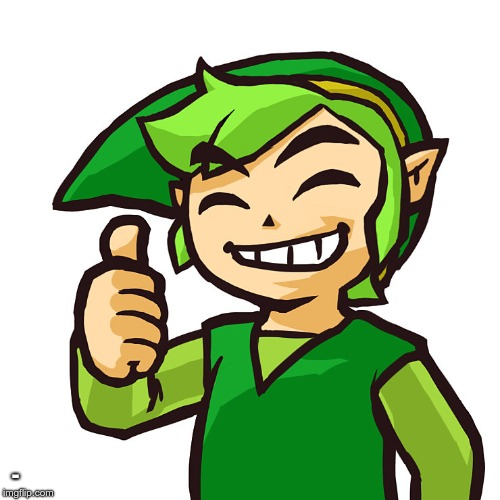 Happy Link | - | image tagged in happy link | made w/ Imgflip meme maker