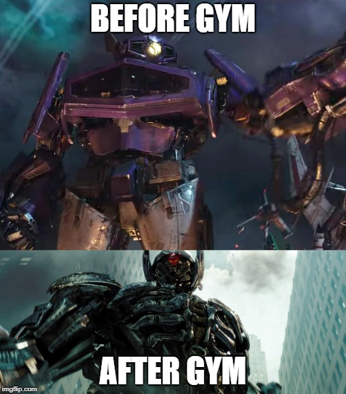Shockwave hit the gym | BEFORE GYM AFTER GYM | image tagged in transformers,gym memes,shockwave,decepticons,gym | made w/ Imgflip meme maker
