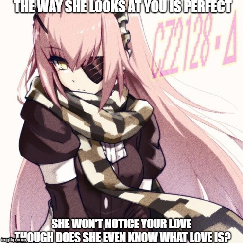 "the problem of having a automaton as your ""Waifu"" 
