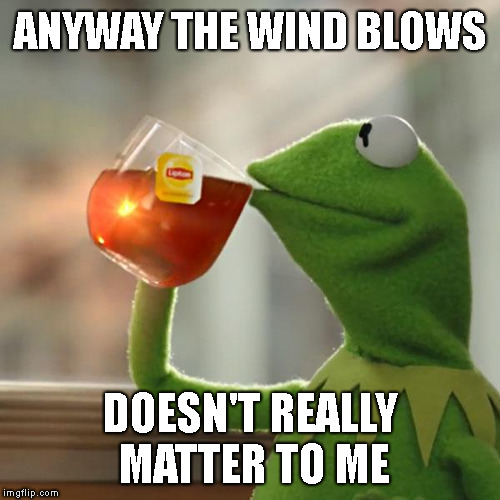 But Thats None Of My Business Meme | ANYWAY THE WIND BLOWS DOESN'T REALLY MATTER TO ME | image tagged in memes,but thats none of my business,kermit the frog | made w/ Imgflip meme maker