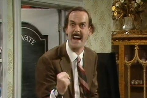 Angry Basil Fawlty Meme Template