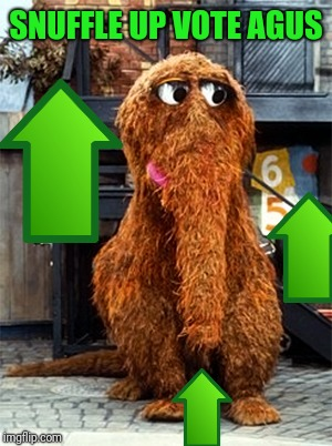 Snuffleupagus | SNUFFLE UP VOTE AGUS | image tagged in snuffleupagus | made w/ Imgflip meme maker