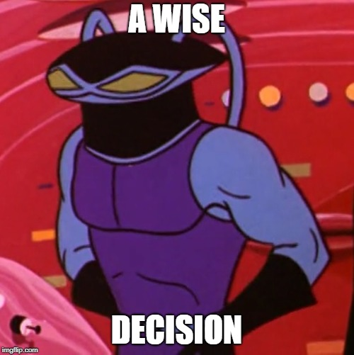A WISE DECISION | made w/ Imgflip meme maker