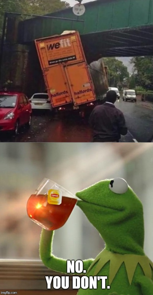 The name on the truck though | NO. YOU DON'T. | image tagged in memes,but thats none of my business,kermit the frog,fun | made w/ Imgflip meme maker