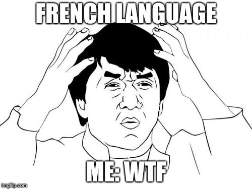 Jackie Chan WTF | FRENCH LANGUAGE ME: WTF | image tagged in memes,jackie chan wtf | made w/ Imgflip meme maker