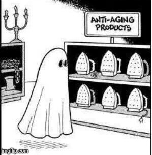 Old Ghost | . | image tagged in memes,halloween,ghost,aging | made w/ Imgflip meme maker