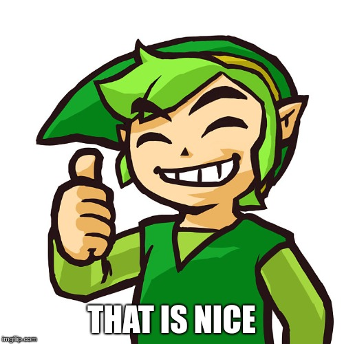 Happy Link | THAT IS NICE | image tagged in happy link | made w/ Imgflip meme maker