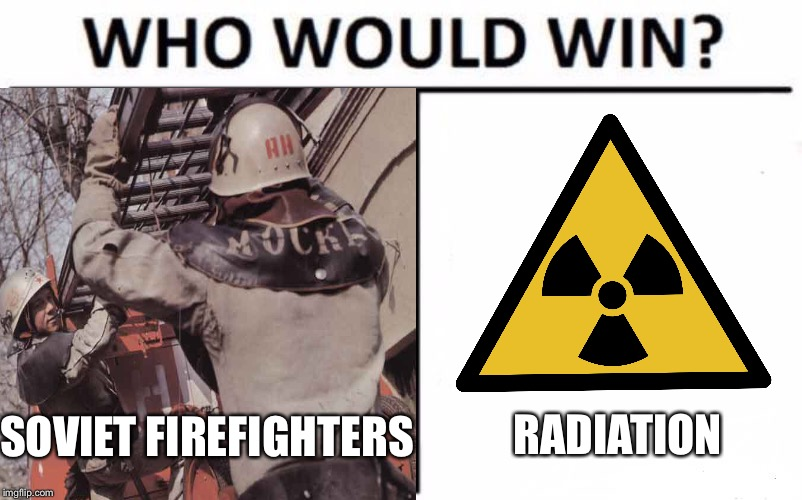 """There must be a tremendous amount of radiation in there!"" 