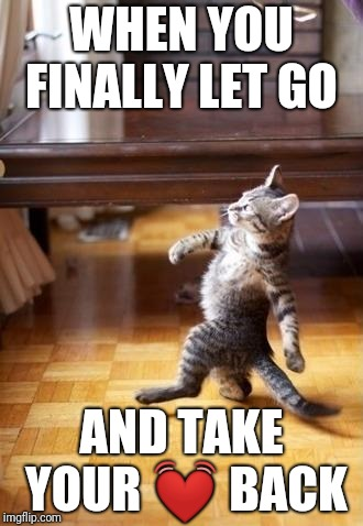 Cool Cat Stroll Meme | WHEN YOU FINALLY LET GO AND TAKE YOUR  | image tagged in memes,cool cat stroll | made w/ Imgflip meme maker