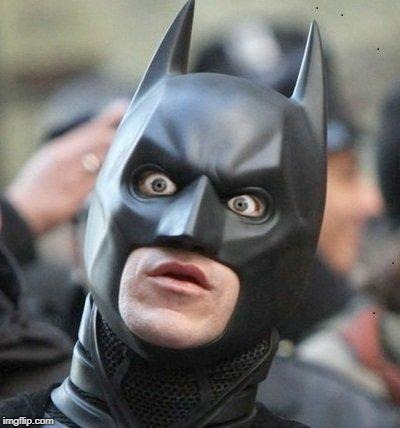 Shocked Batman | / | image tagged in shocked batman | made w/ Imgflip meme maker