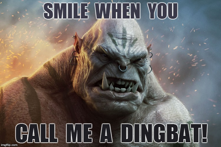 SMILE  WHEN  YOU CALL  ME  A  DINGBAT! | made w/ Imgflip meme maker