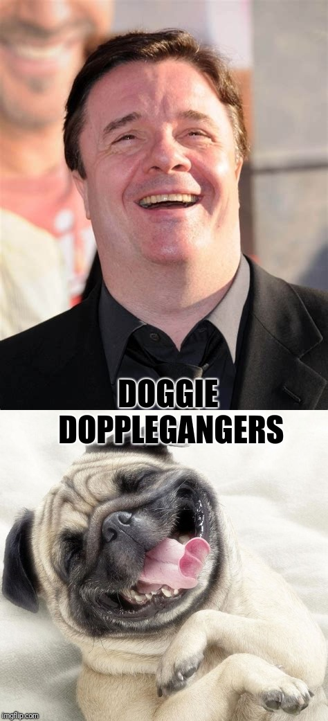 La Cages aux Doge | DOGGIE DOPPLEGANGERS | image tagged in nathan lane,pug | made w/ Imgflip meme maker