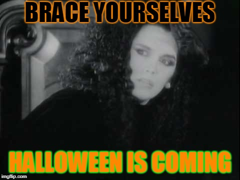 Yeah I know it's a repost (but it's unique!) and I'm a week early xD | BRACE YOURSELVES HALLOWEEN IS COMING | image tagged in memes,funny,halloween,brace yourselves x is coming,dead or alive,pete burns | made w/ Imgflip meme maker