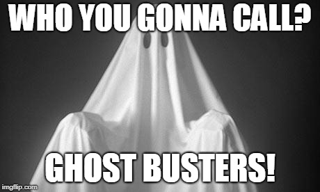 Ghost | WHO YOU GONNA CALL? GHOST BUSTERS! | image tagged in ghost | made w/ Imgflip meme maker