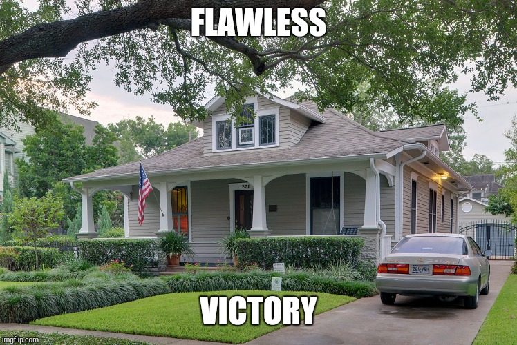 FLAWLESS VICTORY | image tagged in funny | made w/ Imgflip meme maker