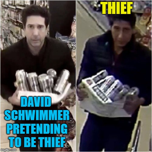 THIEF DAVID SCHWIMMER PRETENDING TO BE THIEF | made w/ Imgflip meme maker