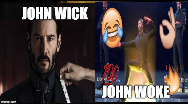 john wick john woke image tagged in john wick fortnite deep fried - john wick fortnite model