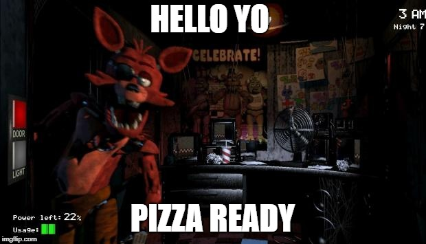 Foxy Five Nights at Freddy's - Imgflip