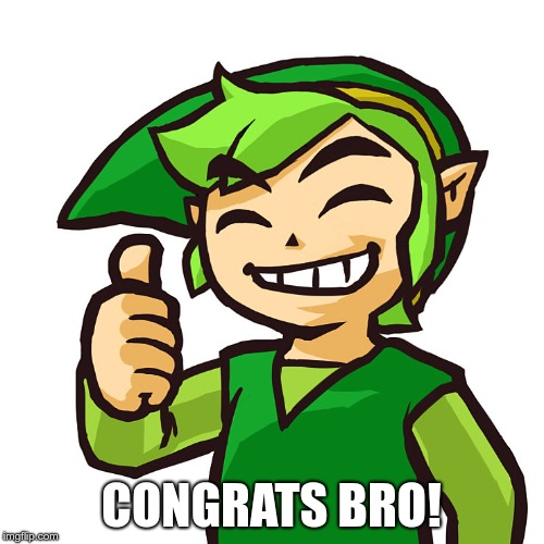 Happy Link | CONGRATS BRO! | image tagged in happy link | made w/ Imgflip meme maker