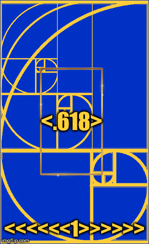 The Golden Ratio (1.618) | <<<<<<1>>>>>> <.618> | image tagged in the golden ratio,mathematics,geometry,life,beauty,divinity | made w/ Imgflip meme maker