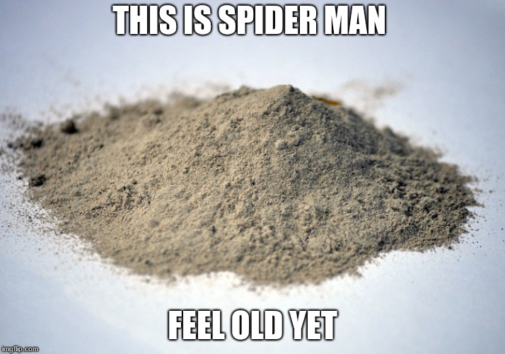 pile of dust |  THIS IS SPIDER MAN; FEEL OLD YET | image tagged in pile of dust | made w/ Imgflip meme maker