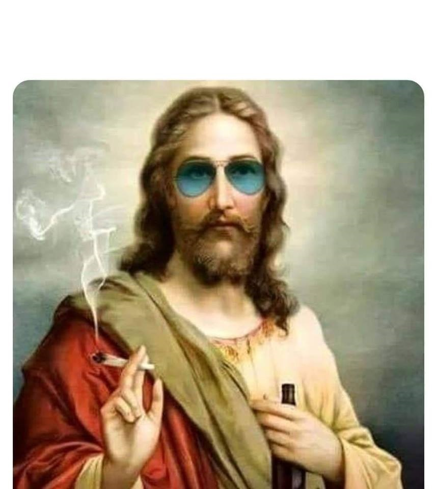 cool jesus weed joint shades blank template imgflip