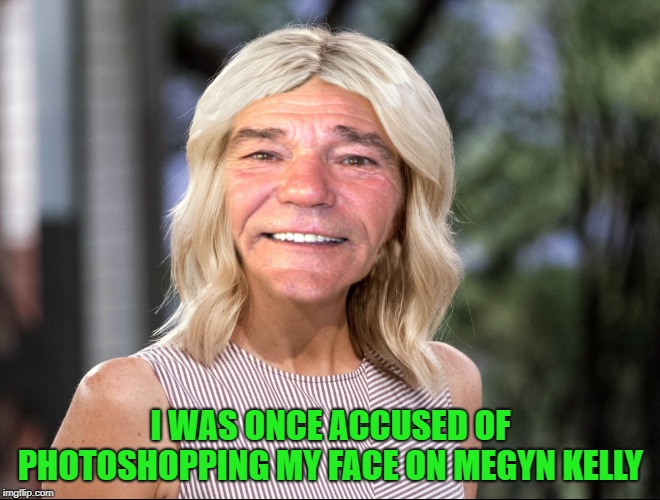 I WAS ONCE ACCUSED OF PHOTOSHOPPING MY FACE ON MEGYN KELLY | made w/ Imgflip meme maker